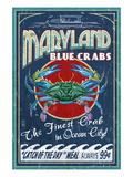 Blue Crabs - Ocean City, Maryland Poster von  Lantern Press