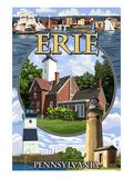 Erie, Pennsylvania - Montage Scenes Prints by  Lantern Press