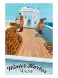 Winter Harbor, Maine - Lobster Boat Scene Kunstdrucke von  Lantern Press
