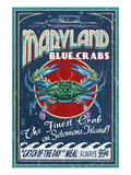 Blue Crabs - Solomons Island, Maryland Plakat af  Lantern Press