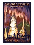 Carlsbad Caverns National Park, New Mexico - Temple of the Sun Kunstdrucke von  Lantern Press