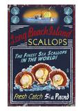 Long Beach Island, New Jersey - Scallops Láminas por  Lantern Press