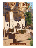 Mesa Verde National Park, Colorado - Cliff Palace Poster von  Lantern Press