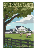 Southfork Ranch - Dallas, Texas Stampe di  Lantern Press