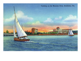 Bradenton, Florida - Sailboat on Manatee River Posters by  Lantern Press