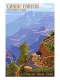 Grand Canyon National Park - Bright Angel Trail Kunstdruck von  Lantern Press