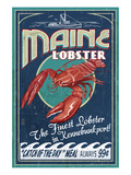 Kennebunkport, Maine - Lobster Prints by  Lantern Press