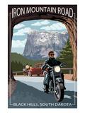 Black Hills, South Dakota - Iron Mountain Road Biker Scene Stampe di  Lantern Press