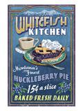 Whitefish, Montana - Huckleberry Poster von  Lantern Press