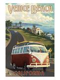 Venice Beach, California - VW Van Cruise Prints by  Lantern Press