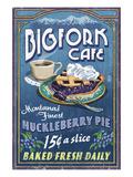 Bigfork, Montana - Huckleberry Pie Sign Kunstdrucke von  Lantern Press