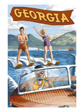 Georgia - Water Skiing Scene Prints by  Lantern Press
