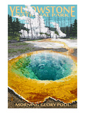 Morning Glory Pool - Yellowstone National Park Prints by  Lantern Press