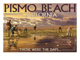 Pismo Beach, California - Clam Diggers Plakater af  Lantern Press