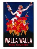 Woman with Bottle - Walla Walla, Washington Posters by  Lantern Press