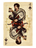 Jack of Spades - Playing Card Premium Giclee Print by  Lantern Press