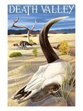 Cow Skull - Death Valley National Park Giclée-Premiumdruck von  Lantern Press