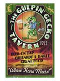 Kona, Hawaii - Gecko Tavern Poster von  Lantern Press