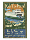 West Seattle Ferry Premium Giclee Print by  Lantern Press