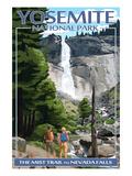 The Mist Trail - Yosemite National Park, California Poster von  Lantern Press