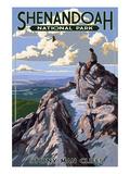 Shenandoah National Park, Virginia - Stony Man Cliffs View Pósters por  Lantern Press
