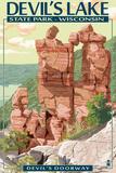 Devil's Lake State Park, Wisconsin - Devil's Doorway Plakater av  Lantern Press