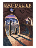 Bandelier National Monument, New Mexico - Twilight View Poster by  Lantern Press