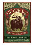 Anchorage, Alaska - Moose Head Ale Premium Giclée-tryk af  Lantern Press