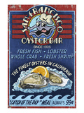 San Francisco, California - Oyster Bar Poster by  Lantern Press
