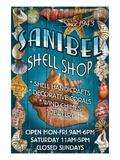Shell Shop - Sanibel, Florida Poster tekijänä  Lantern Press
