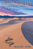 Mesquite Dunes - Death Valley National Park Posters af  Lantern Press