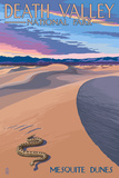 Mesquite Dunes - Death Valley National Park Poster by  Lantern Press