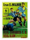 Futbol Promotion - Estadio El Molinon Affiche par  Lantern Press