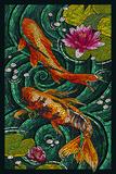 Koi - Paper Mosaic Posters by  Lantern Press