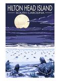 Hilton Head, South Carolina - Baby Turtles Hatching Láminas por  Lantern Press