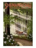 Shenandoah National Park, Virginia - Deer and Fawns Giclée-Premiumdruck von  Lantern Press