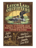 Minnesota - Leech Lake Outfitters Loon Posters par  Lantern Press