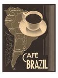 Cafe Brazil II Plakater af Hugo Wild