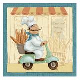 Kokken på marked, Chef's Market III, på engelsk Kunst af Daphne Brissonnet