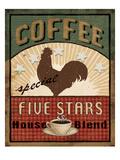 Coffee Blend Label III Premium Giclee-trykk av Daphne Brissonnet
