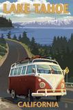 Lake Tahoe, California - VW Coastal Drive Posters by  Lantern Press