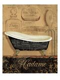 Bain de Madame Premium Giclee-trykk av Daphne Brissonnet