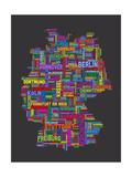 City Text Map of Germany 高画質プリント : Michael Tompsett