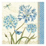 Blue Melody IV Premium Giclee Print by Daphne Brissonnet
