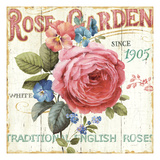 Jardin de roses I Reproduction giclée Premium par Lisa Audit
