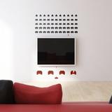 Space Invaders grande (sticker murale) Decalcomania da muro