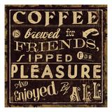 Coffee Quote II Premium-giclée-vedos tekijänä  Pela Design