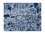 London England Street Map Posters af Michael Tompsett