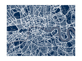 London England Street Map Poster von Michael Tompsett