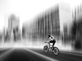 The Biker Trykk på strukket lerret av Josh Adamski